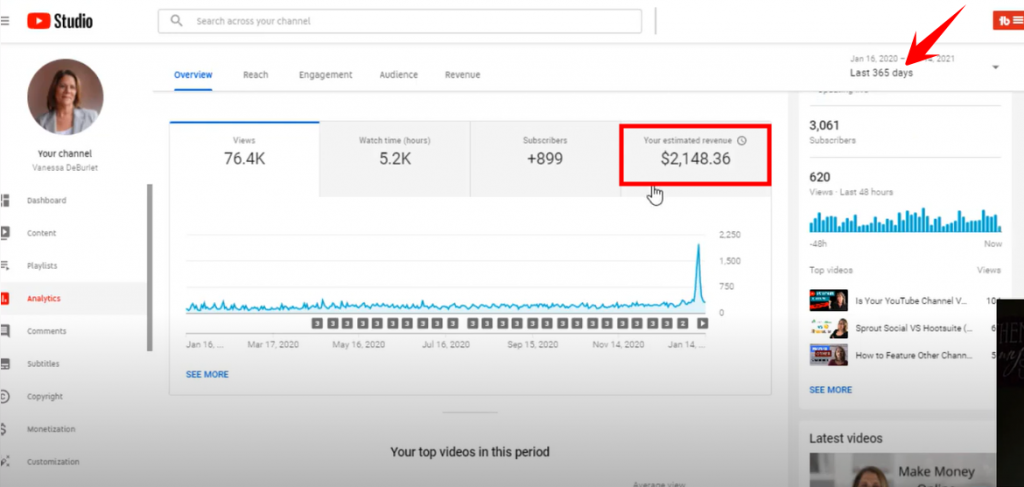 how much Youtube paid me in 2020