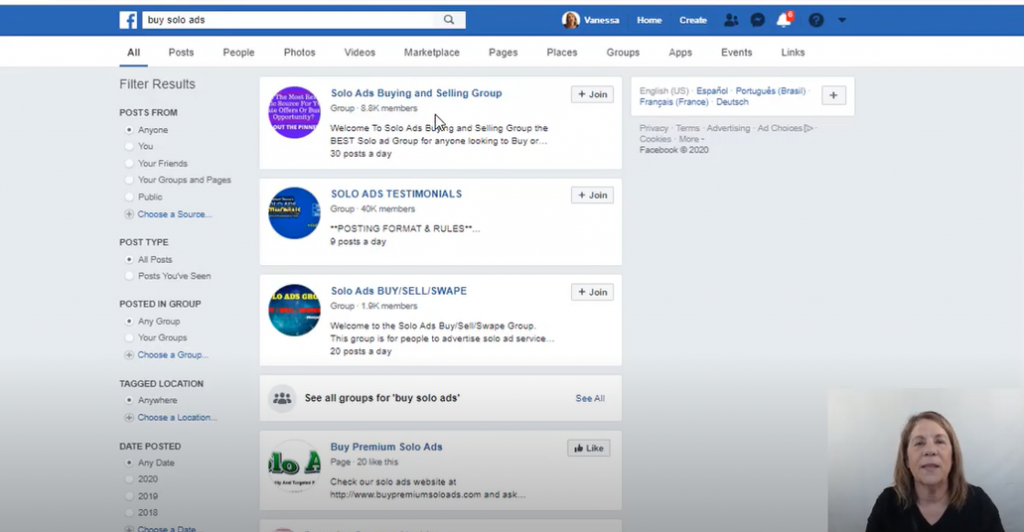 Facebook solo ad groups